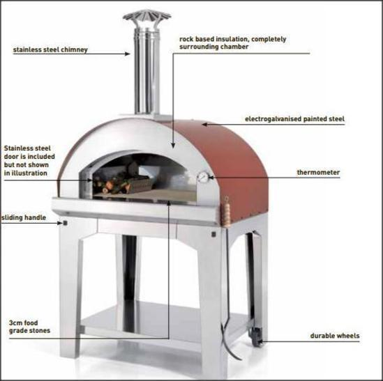 Mangiafuoco Wood Fired Pizza Oven Stainless Steel Ebay