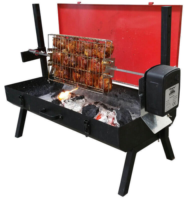 how to build a spit roaster