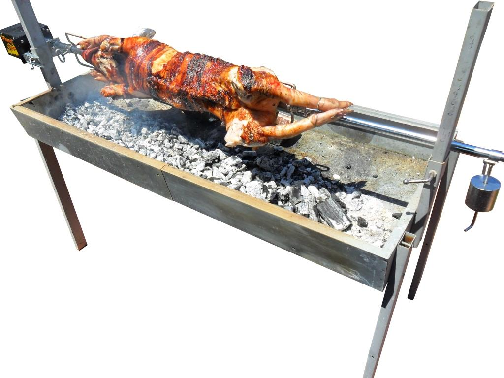 Cooking On A Charcoal Rotisserie