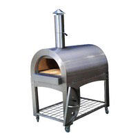 Wood Fired Pizza Oven - Stainless Steel Large