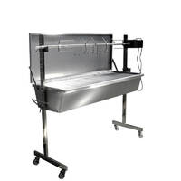 Flaming Coals Stainless Warrior Pig Spit Roaster - 60kg capacity