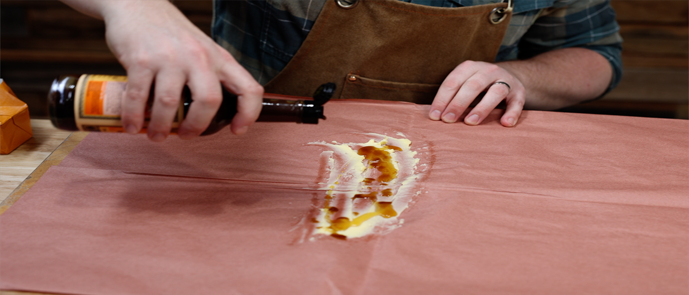 This image shows a wrapped that Tom Spinks will be using for pork ribs