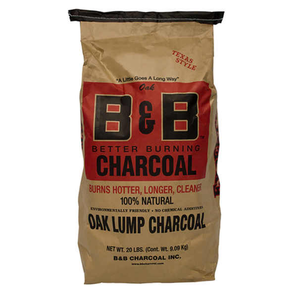 B&B Charcoal Oak Lump Charcoal 9kg