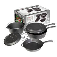 Camp Oven 6 Piece Cast Iron Set