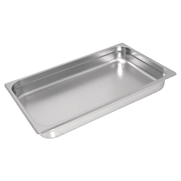 Vogue Stainless Steel Carving Tray 25mm Deep