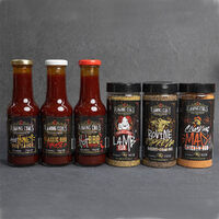 Flaming Coals Rubs and Sauces Combo Pack