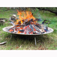 Auspit Stainless Steel Fire Pit Dish 750