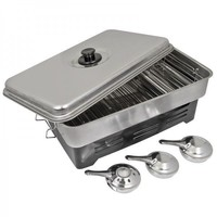 Deluxe Stainless Steel 3 Burner Fish Smoker