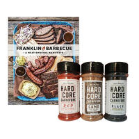 Franklin Barbecue Book With Black & Red Hardcore Carnivore Rubs Combo