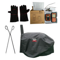 Flaming Coals Texas Offset Smoker Pack