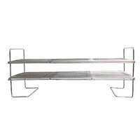 Flaming Coals Offset Smoker Double Smoking Shelf