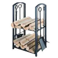 2 Tier Wood Rack with 4 tools