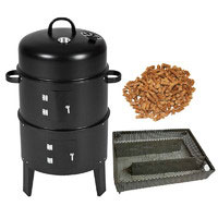 3-in-1 Charcoal Smoker, Roaster and Griller Combo