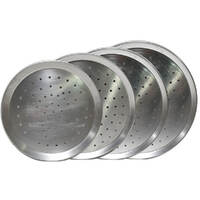 Flaming Coals Perforated Aluminium Pizza Trays 225mm - 330mm diameter