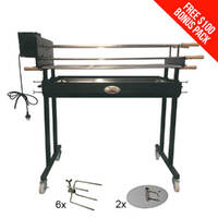 Flaming Coals Extra Large Cyprus Spit with 5 Premium Skewers