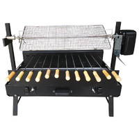 Mini Cyprus Spit Roaster Charcoal BBQ - Black