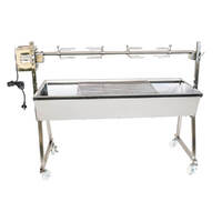 The Minion 1200mm Stainless Steel Spit Rotisserie