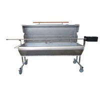 Large S/Steel Charcoal BBQ Spit Rotisserie w Hood