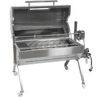 Flaming Coals Dual Fuel Spit Roaster 1000mm