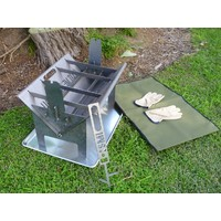 The Wedge Fire Pit & Camp Cooker Set