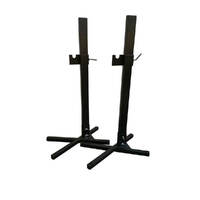 2x Heavy Duty Portable Spit Rotisserie Stands