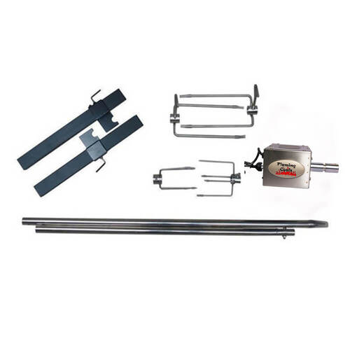 DIY BBQ Spit Rotisserie Set - Stainless Steel with Motor