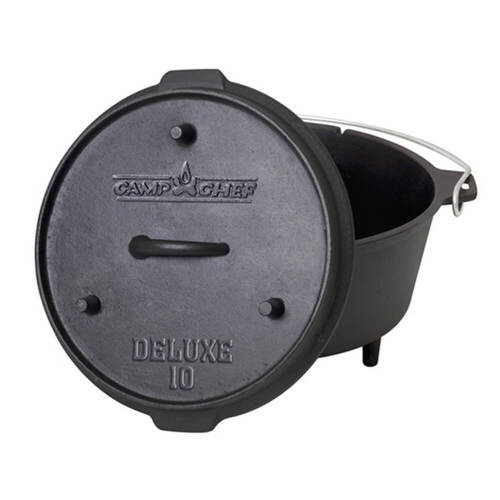 Camp Chef 10 inch Cast Iron Deluxe Dutch Oven