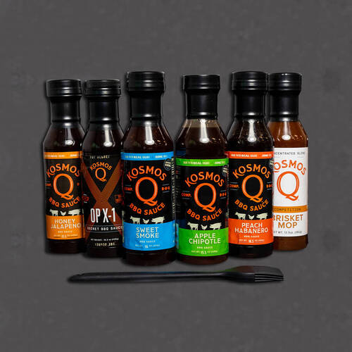 Kosmos Q Ultimate BBQ Sauce 7 Pack with Free Basting Brush