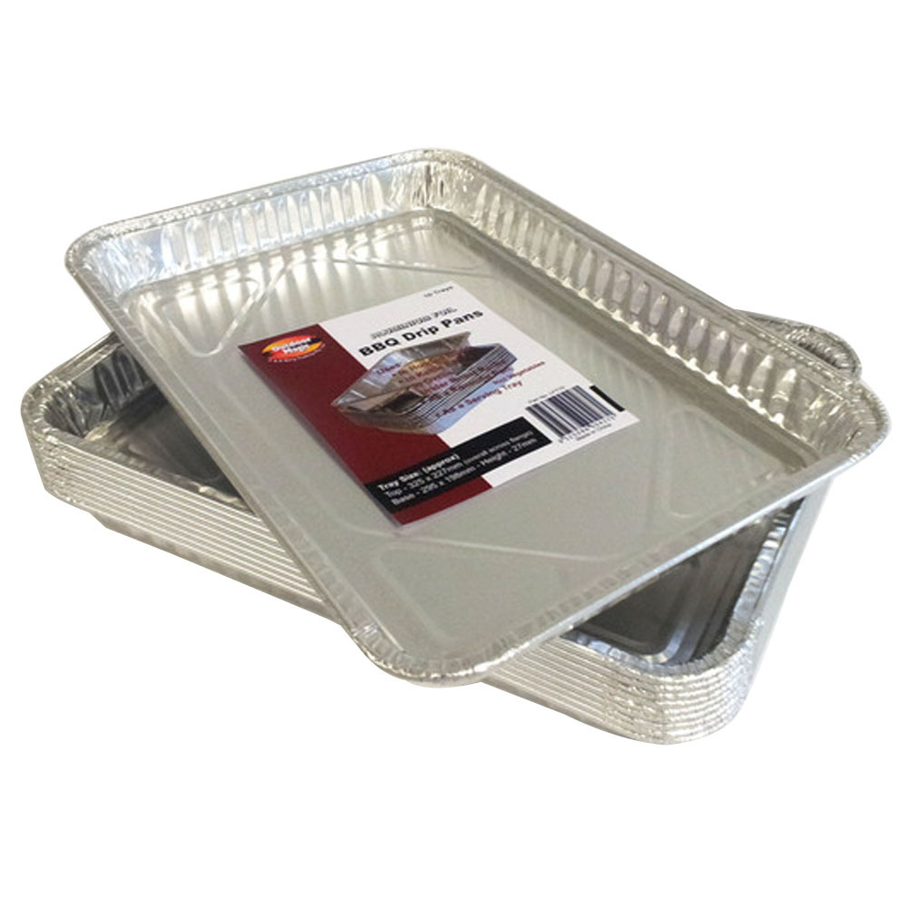 Aluminium BBQ Drip Trays - Pack of 10