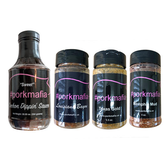 Pork Mafia BBQ 3 Pack Rub and Sauce