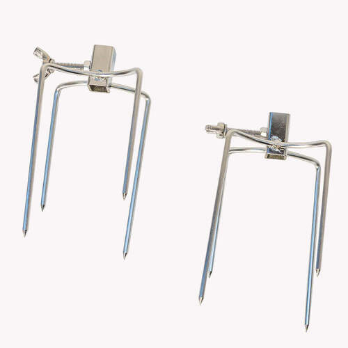 Small 4 prong Rotisserie Fork for Chicken - 10mm square x 2