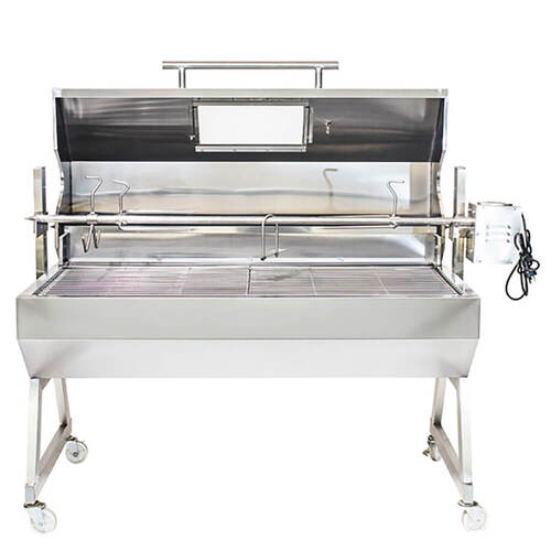 1500 Stainless Steel Hooded Spartan Spit Roaster