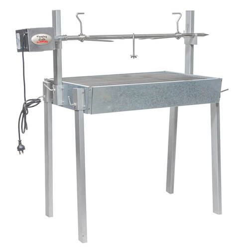 Extendable Large Charcoal BBQ Spit Rotisserie